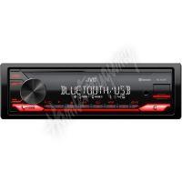 KD-X272BT JVC autorádio bez mechaniky/Bluetooth/USB/AUX/červená barva podsvícení/odním.pan