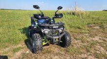 """Dětská čtyřtaktní čtyřkolka ATV SHARK 150ccm zelená 1 rych. poloautomat 8"""" kola"""