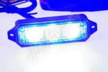 kf003hdblue MINI PREDATOR 3x1W LED, 12-24V, modrý, ECE R10