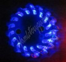 wl-h02set6blu LED výstražné světlo 16LED, modré, set 6ks