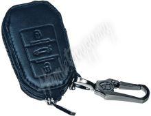 483PG113 x Kožený obal se zipem černý pro klíč Peugeot 508