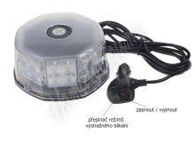 wl241 LED maják, 12-24V, oranžový, 32 LED, ECE R10, magnet