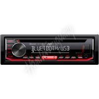 KD-T702BT JVC autorádio s CD/MP3/USB/AUX/Bluetooth připojení/červené podsvícení/odním.pane
