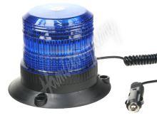 wl19blu Zábleskový maják, 12-24V, modrý magnet, ECE R10