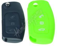481FO102gre Silikonový obal pro klíč Ford 3-tlačítkový, zelený
