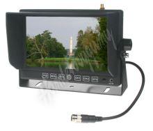 """sv73gps Monitor 7"""" se 2x4PIN vstup,čelním AV, GPS"""