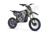Elektrická motorka MiniRocket Coyote 1500W 48V zelená kola 14/12 Baterie Lithium