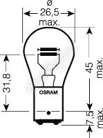 OS7537 OSRAM 24V P21/5W (BAY15d) 21/5W standard (1ks)