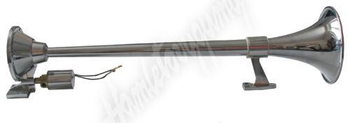 sn-005 Singl-fanfára 450mm, chromová, hluboký tón bez kompresoru