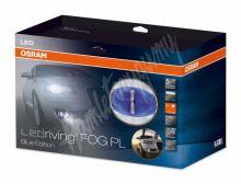 osLEDfog103 x OSRAM LED mlhová světla/denní svícení, kulatá světla 90mm, ECE