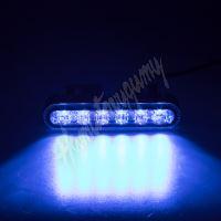 911-622blu PROFI výstražné LED světlo vnější, modré, 12-24V, ECE R65