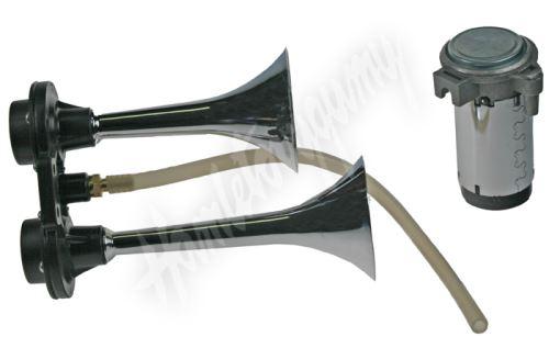 sn-112/12V 2-tónová fanfára 168/207mm, 12V stálý tón s kompresorem