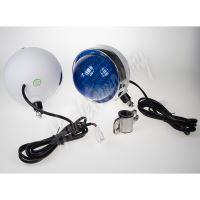 VZ16 Retro výstražné LED světlo vnější na motocykl, modré, 12V, pár