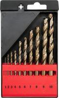 Sada vrtáků na kov 10ks HSS-COBALT 1-10mm