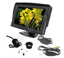 cw2-Pset43 Parkovací systém bezdrátový 4 senzorový - LCD displej + kamera