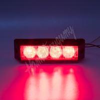911-E4red x PROFI výstražné LED světlo vnější, 12-24V, červené