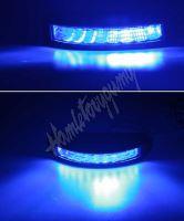 911-C9blu PROFI výstražné LED světlo vnější, modré, 12-24V, ECE R10