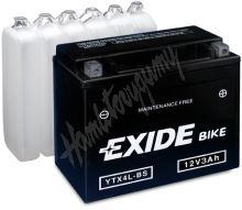 Motobaterie EXIDE BIKE Maintenance Free YT14B-BS (12V, 12Ah, 190A)