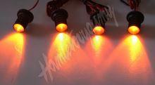 kf704ora LED stroboskop oranžový 4ks 1W