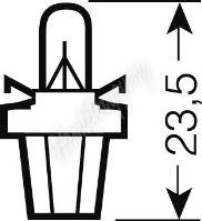 OS2721MFX OSRAM 12V BX8,5d 1,2W standard (10ks)