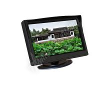 """80063 LCD monitor 5"""" černý na palubní desku s možností instalace na HR držák"""