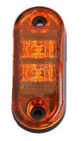 kf662Eora Boční obrysové LED světlo 12-24V, oranžový ovál, homologace