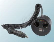 34511 dvojitá CL zásuvka s USB do držáku na pití s kabelem a CL zástrčkou