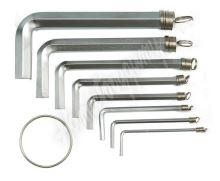 Sada klíčů imbus 10 ks 1,5 - 10 mm CrV