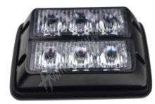 kf003d PREDATOR dual 6x1W LED, 12-24V, oranžový, ECE R10 R65