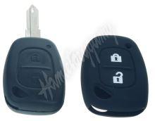 481RN103bla Silikonový obal pro klíč Renault, 2-tlačítkový, černý