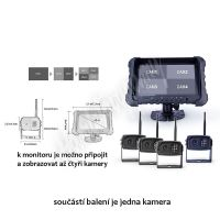 """cw3-dset7AHDdvr SET bezdrátový digitální kamerový AHD systém, monitor 7"""" s možností nahráv"""