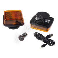 wl-h05ora LED výstražné světlo, oranžové, ECE R65, set 2ks