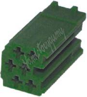 25005zel Konektor MINI ISO 6-pin bez kabelů - zelený