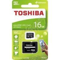 8016gCL10To Paměťová karta TOSHIBA micro SDHC 16GB včetně adaptéru