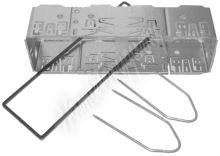 11018 Univerzální kastlík rádia ISO krátký, včetně vytah. vidliček a plastového lemu
