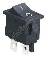 47072 Přepínač kolébkový hranatý 6A, černé tlačítko
