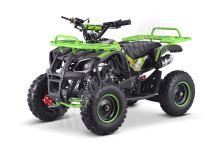 Dětská dvoutaktní čtyřkolka ATV MiniHummer Deluxe 49ccm E-start zelená