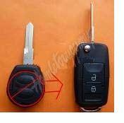 48VW111 Náhr. obal klíče pro VW, Škoda, Seat 2-tlačítkový