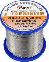 Cín (pájka) pájecí 0,5mm, 250g Sn60Pb40