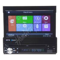 """80822gps 1DIN DVD autorádio s výsuvným 7"""" LCD, bluetooth,multicolor, SD/USB/FM/DUAL-GPS/RD"""
