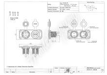 34524 dvojitá zásuvka do panelu 1x CL + 2x nabíječka USB voděodolná