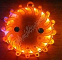 wl-h01oraAA LED výstražné světlo 16LED na 2x baterii AA, oranžové