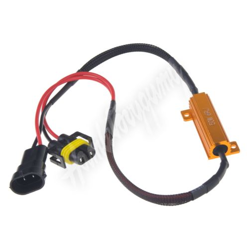 ledr-21H8 Rezistor pro žárovku H8, H9 a H11 12V/21W, 6 ohm, hliníkové pouzdro