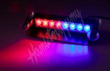 kf750-2blre PREDATOR LED vnitřní, 8x3W, 12-24V, červeno-modrý, 240mm