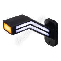 trl191R Poziční LED (tykadlo) gumové pravé - červeno/bílo/oranžové, 12-24V,ECE