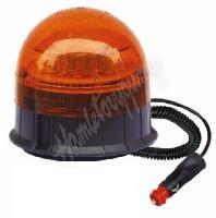 wl85 LED maják, 12-24V, 12x3W, oranžový magnet, ECE R65