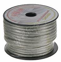 31112 Kabel 10 mm, stříbrně transparentní, 25 m bal
