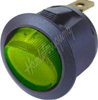 47038 Spínač kolébkový kulatý 20A zelený s podsvícením
