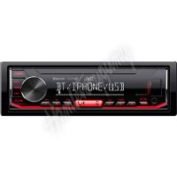 KD-X362BT JVC autorádio bez mechaniky/Bluetooth/USB/AUX/červené podsvícení/odním.panel