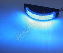 kf188blu Výstražné LED světlo vnější, modré, 12-24V